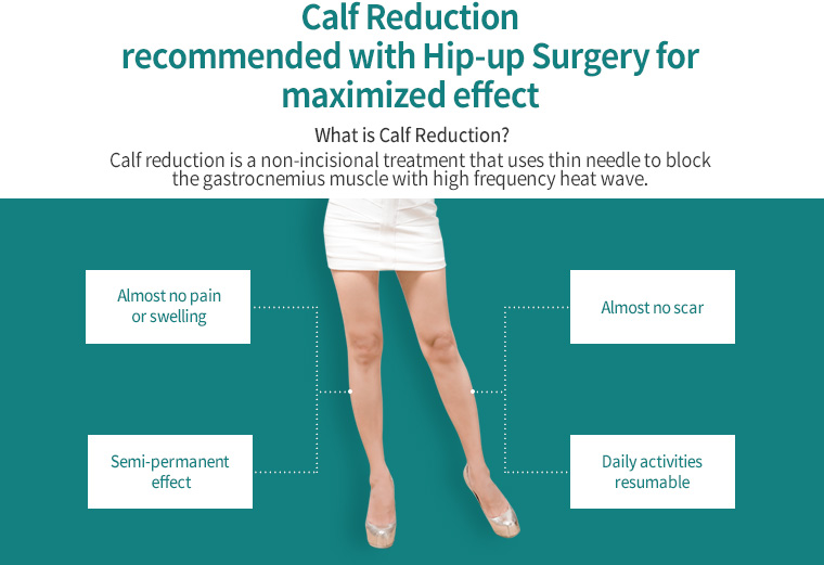Calf Reduction recommended with Hip-up Surgery for maximized effect